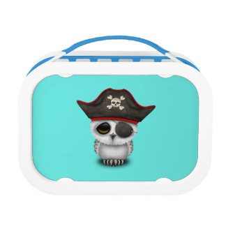 Cute Baby Owl Pirate Lunch Box
