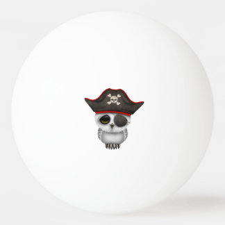 Cute Baby Owl Pirate Ping Pong Ball