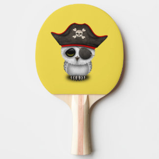 Cute Baby Owl Pirate Ping Pong Paddle