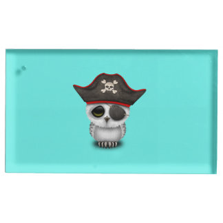 Cute Baby Owl Pirate Place Card Holder