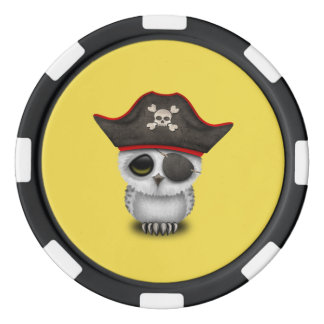Cute Baby Owl Pirate Poker Chips