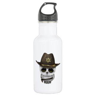 Cute Baby Owl Sheriff 532 Ml Water Bottle