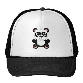 Cute baby panda animation cartoon illustration cap