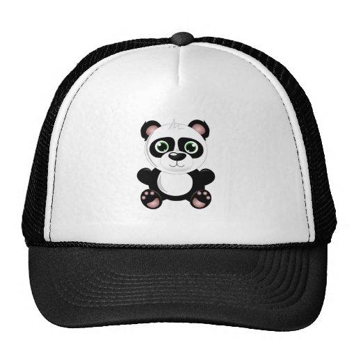 Cute baby panda animation cartoon illustration hat