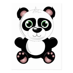 Cute Cartoon Panda Postcards Zazzle Au