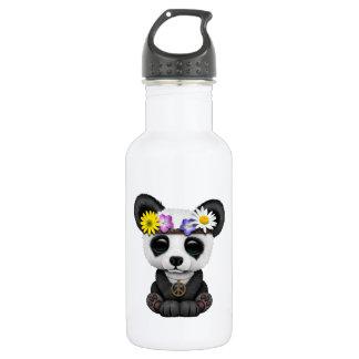 Cute Baby Panda Hippie 532 Ml Water Bottle