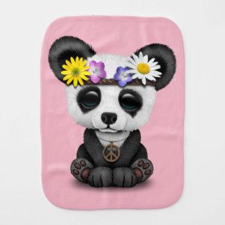 Cute Baby Panda Hippie Burp Cloth
