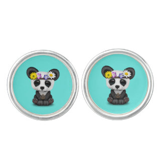 Cute Baby Panda Hippie Cufflinks