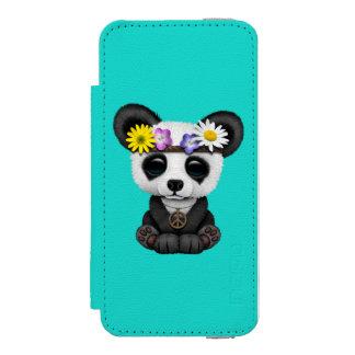 Cute Baby Panda Hippie Incipio Watson™ iPhone 5 Wallet Case