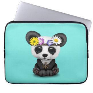 Cute Baby Panda Hippie Laptop Sleeve