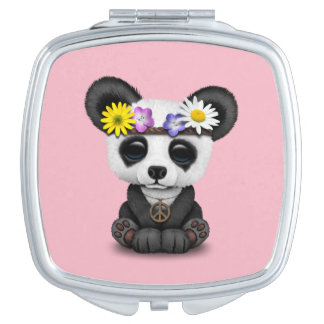 Cute Baby Panda Hippie Makeup Mirrors