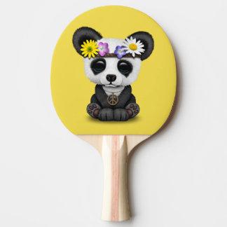 Cute Baby Panda Hippie Ping Pong Paddle