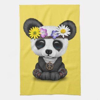 Cute Baby Panda Hippie Tea Towel