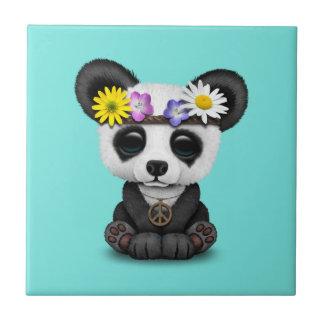 Cute Baby Panda Hippie Tile