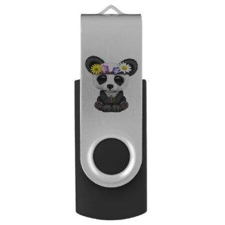 Cute Baby Panda Hippie USB Flash Drive