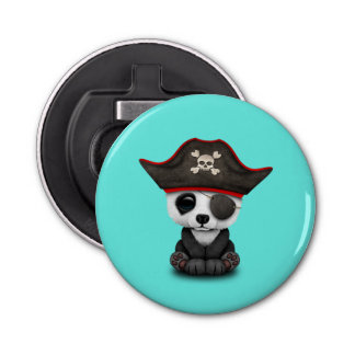 Cute Baby Panda Pirate Bottle Opener