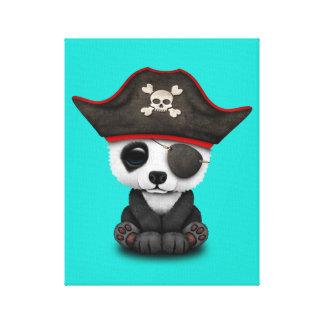 Cute Baby Panda Pirate Canvas Print