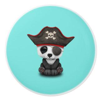 Cute Baby Panda Pirate Ceramic Knob