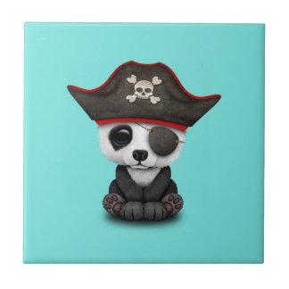 Cute Baby Panda Pirate Ceramic Tile