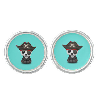 Cute Baby Panda Pirate Cuff Links