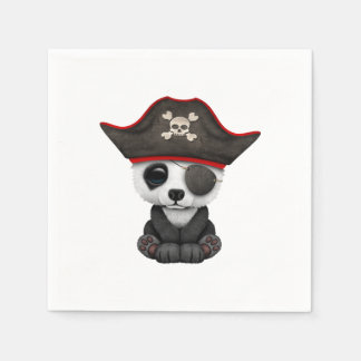 Cute Baby Panda Pirate Disposable Serviette
