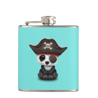 Cute Baby Panda Pirate Hip Flask