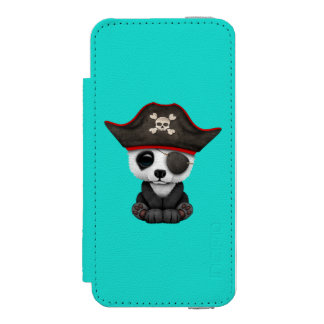 Cute Baby Panda Pirate Incipio Watson™ iPhone 5 Wallet Case