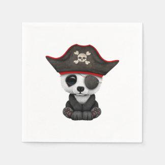 Cute Baby Panda Pirate Paper Serviettes