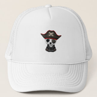 Cute Baby Panda Pirate Trucker Hat