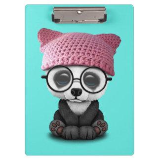 Cute Baby Panda Wearing Pussy Hat Clipboard