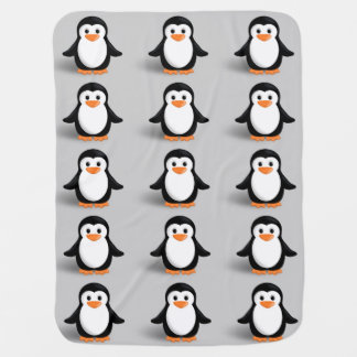 Cute Baby Penguin Buggy Blankets