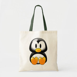 Cute Baby Penguin - Customizeable Budget Tote Bag