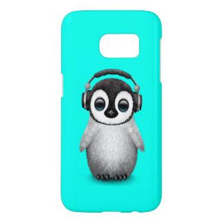 Cute Baby Penguin Dj Wearing Headphones