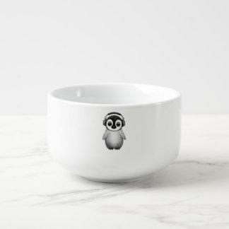 Cute Baby Penguin Dj Wearing Headphones Soup Mug