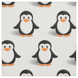 Cute Baby Penguin Fabric
