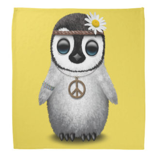 Cute Baby Penguin Hippie Bandana