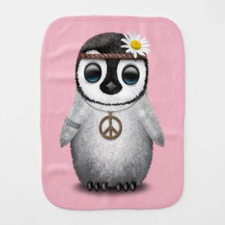 Cute Baby Penguin Hippie Burp Cloth