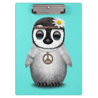 Cute Baby Penguin Hippie Clipboard
