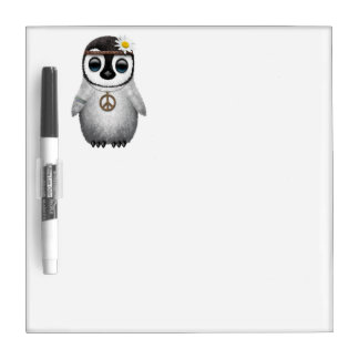 Cute Baby Penguin Hippie Dry Erase Board