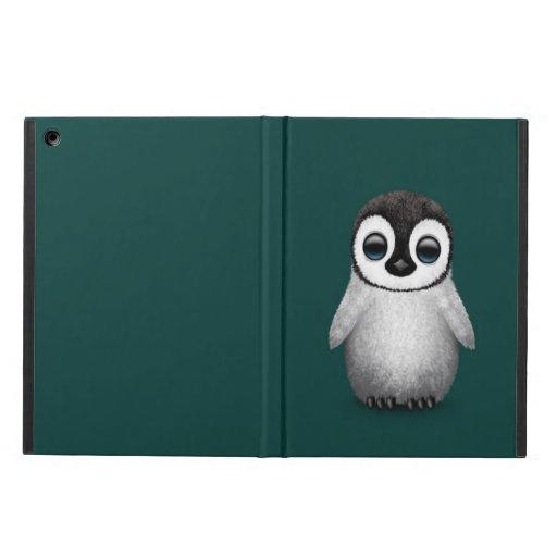 Cute Baby Penguin on Teal Blue iPad Air Case