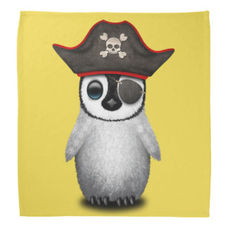 Cute Baby Penguin Pirate Bandana