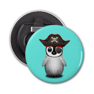 Cute Baby Penguin Pirate Bottle Opener