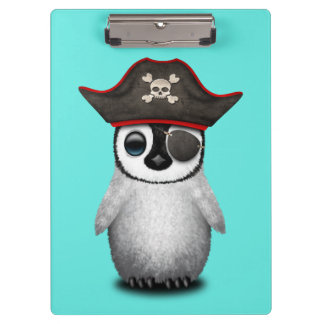 Cute Baby Penguin Pirate Clipboard