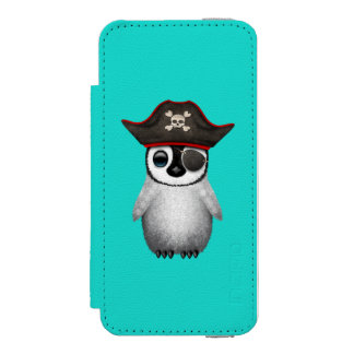 Cute Baby Penguin Pirate Incipio Watson™ iPhone 5 Wallet Case