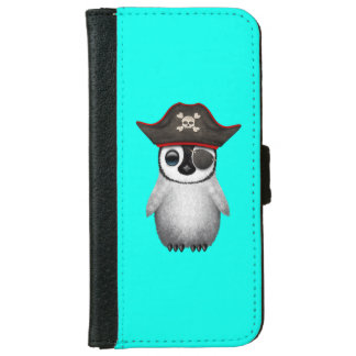 Cute Baby Penguin Pirate iPhone 6 Wallet Case