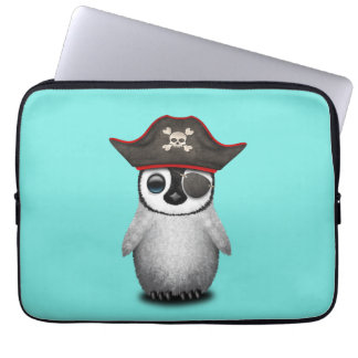 Cute Baby Penguin Pirate Laptop Sleeve