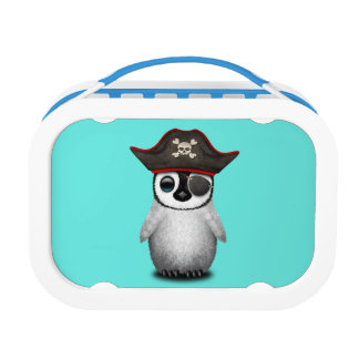 Cute Baby Penguin Pirate Lunch Box