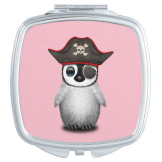 Cute Baby Penguin Pirate Mirror For Makeup