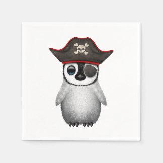 Cute Baby Penguin Pirate Paper Napkins
