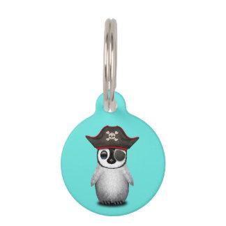 Cute Baby Penguin Pirate Pet Tag